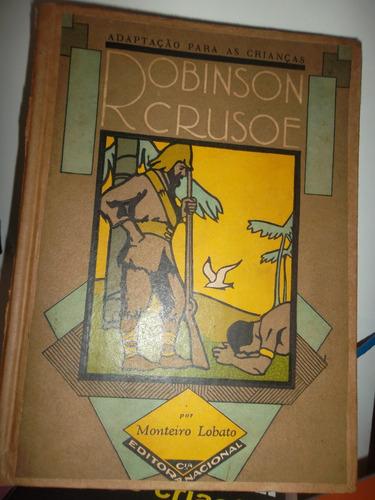 livro - raro - adaptação para as crianças robinson crusoé