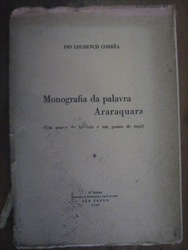 livro raro monografia palavra araraquara familia meias lupo