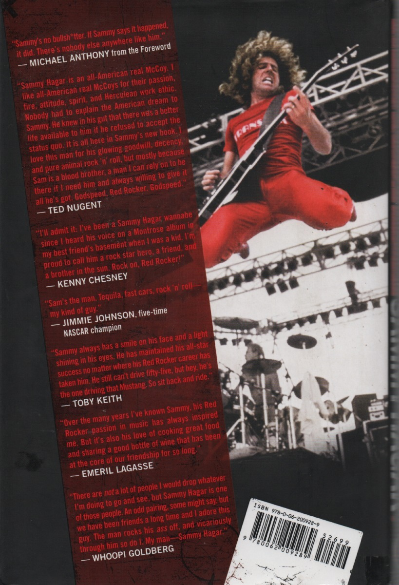 Livro Red My Uncensored Life In Rock - Sammy Hagar
