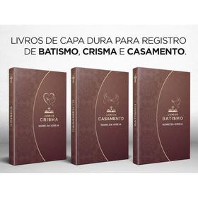 Livro Registro Crisma Capa Dura Caderno Registro