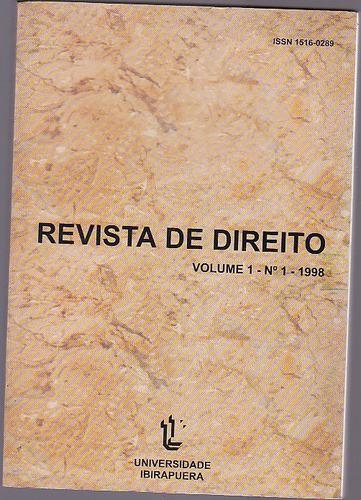livro revista de direito volume 1 número 1