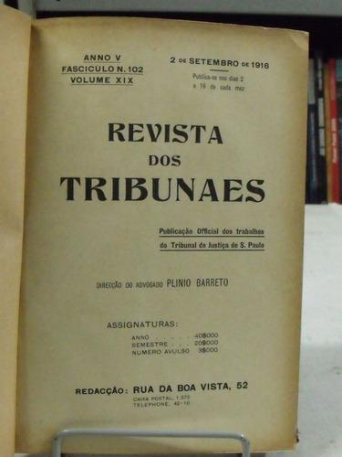 livro - revista dos tribunaes: ano v - vol. x i x