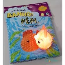 livro sensorial bebê ta na hora do banho kit com 04 volumes