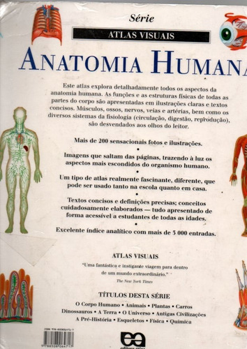 livro série atlas visuais anatomia humana 1ª ed/13ªimpressão