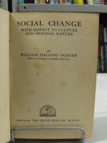 livro - social change - william f. ogburn