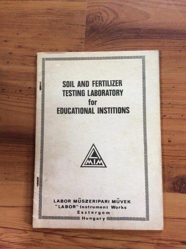 livro: soil and fertilizer  testing laboratory for education