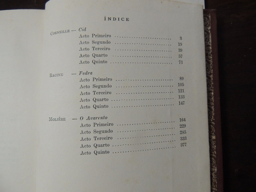 livro teatro francês corneille cid racine fedra molière