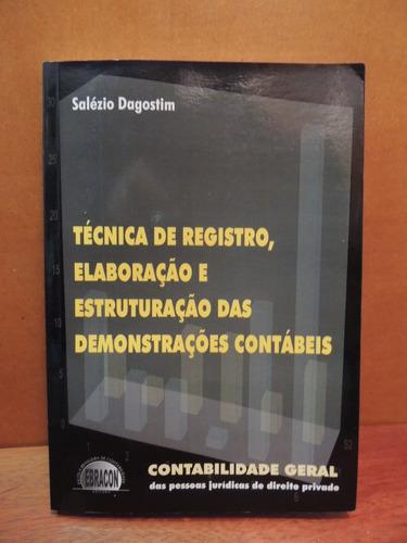 livro técnica registro elaboração demonstrações contábeis