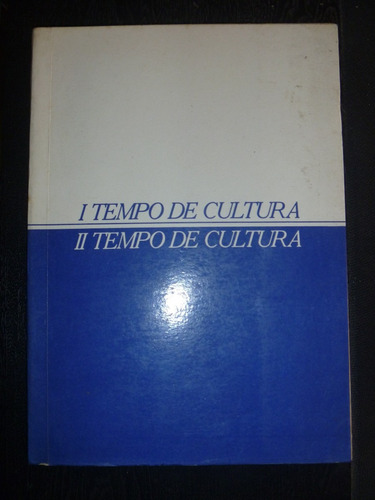 livro - tempo de cultura - palestras e debates 1985