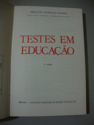 livro testes em educação - heraldo marelim vianna