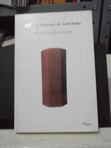 livro - textamentos affonso romano de sant'anna  - poesia