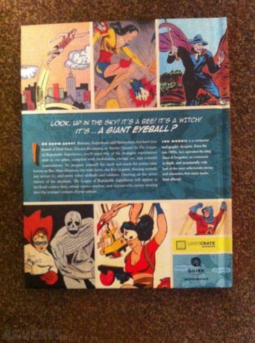 livro the league of regrettable superheroes loot crate