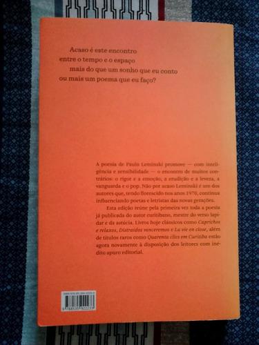 livro: toda poesia - paulo leminski