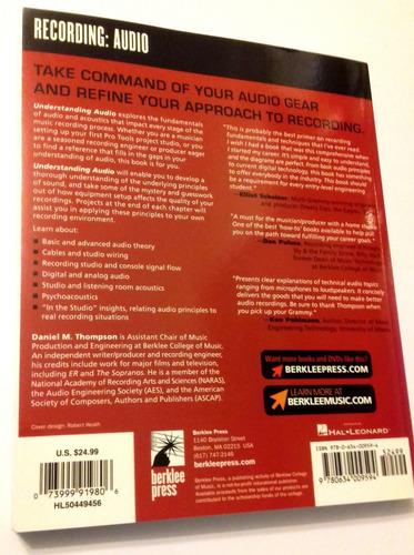 livro - understanding audio, de daniel thompson - novo!