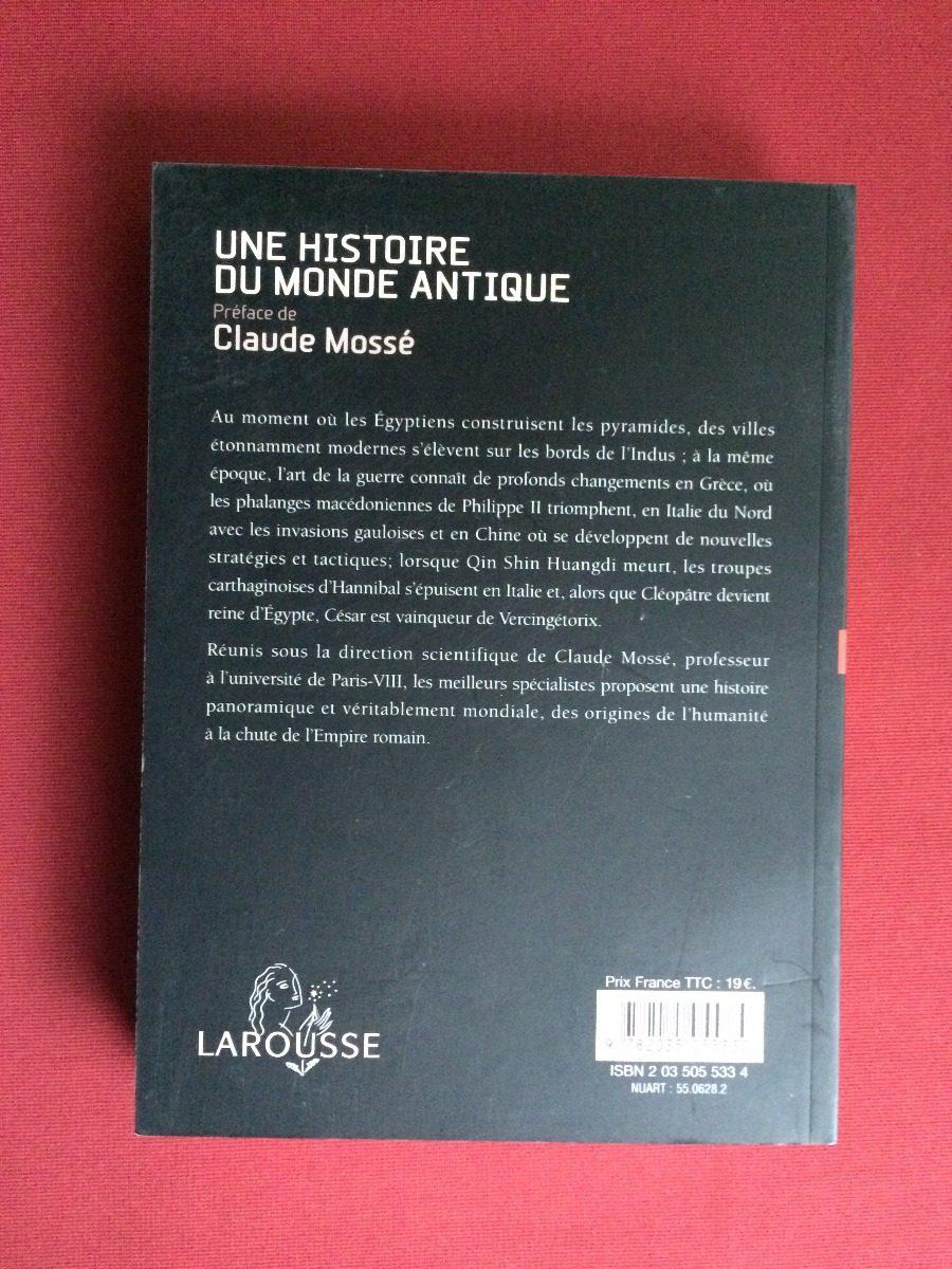 livro - une histoire du monde antique - claude mossé - semi. Carregando  zoom.