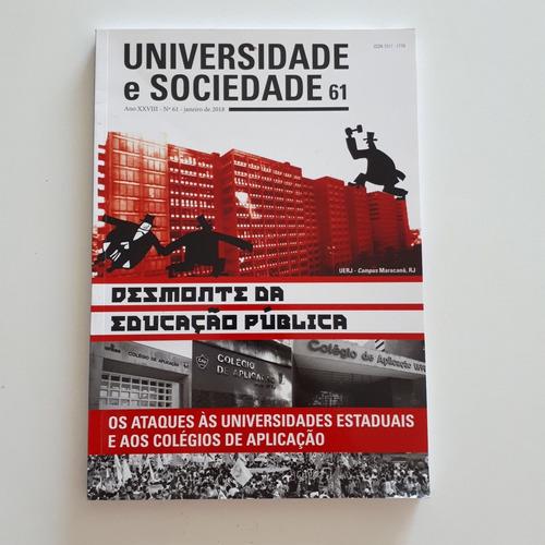 livro universidade e sociedade 61 jan/2018 educação c2