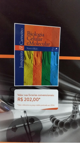 livro universitário biologia celular e molecular