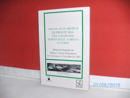 livro usinas açucareiras de piracicaba (estudos rurais) 1996