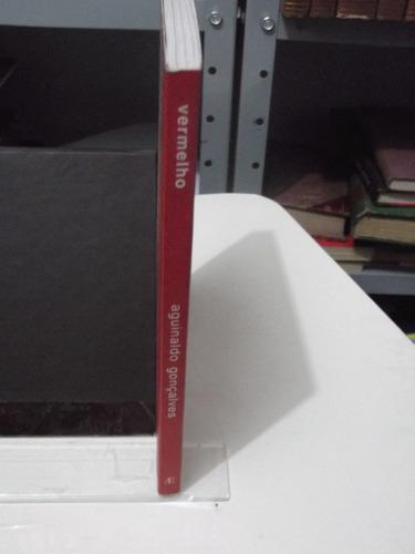 livro - vermelho - aguinaldo gonçalves   - poesia
