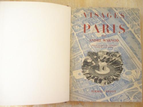 livro - visages de paris - andre warnod