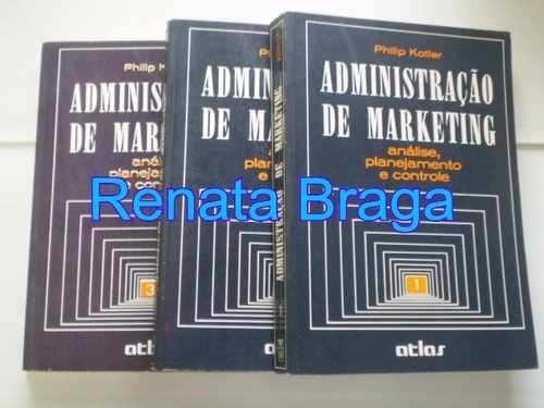 livros administração de marketing philip kotler 3 volumes