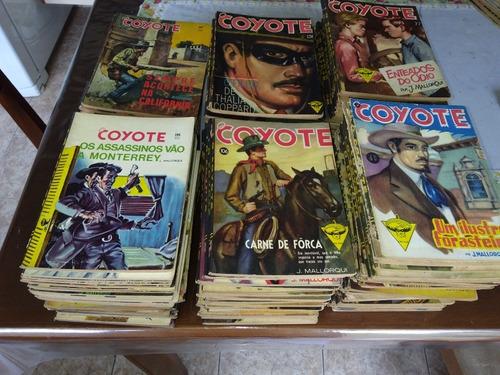 livros do coyote antigo com141 exemplares, ed monterrey/1956