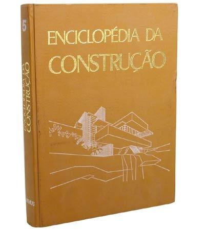 livros - enciclopédia da construção - 05 volumes - frete grá
