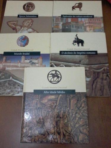 livros grande história universal 5 volumes frete 1real
