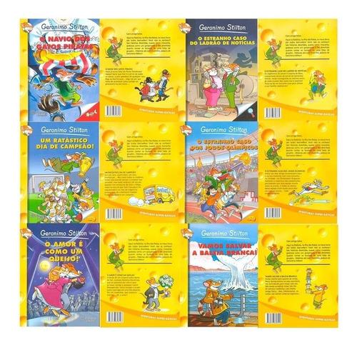 livros infantis geronimo stilton aventuras coleção 18 vols.