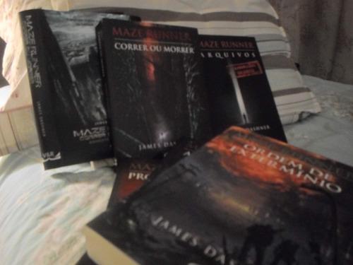 livros maze runner correr ou morrer 4 livros+spinoff