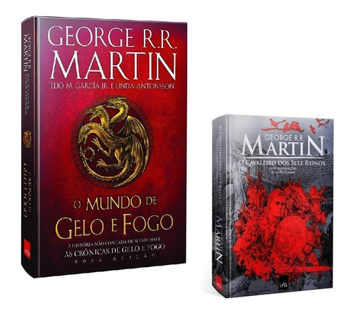 livros - mundo gelo e fogo + cavaleiro 7 reinos ilustrado