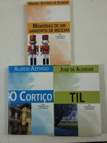 livros o cortiço , memórias de um sargento de milícias ,til