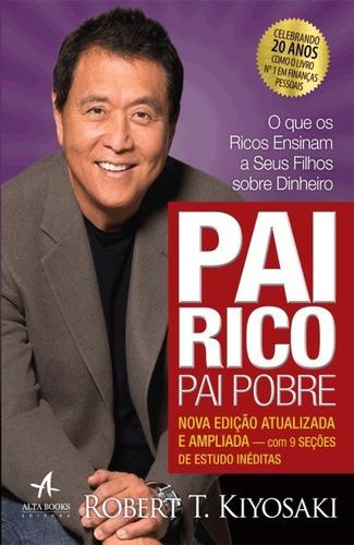 livros pai rico pai pobre + o poder da ação luxo + seja foda