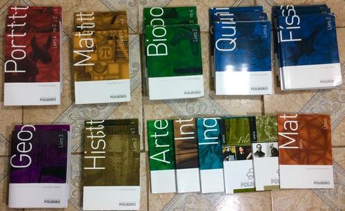 livros poliedro 2017, vestibulares, enem, medicina.