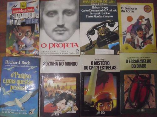 livros, richard bach, rubem braga e outros