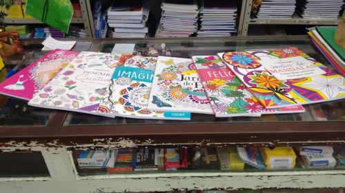 livros sortidos para colorir