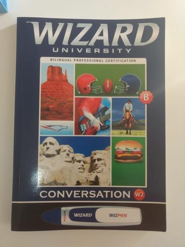 livros wizard w2 a e b + cd + dvd + wizpen com carregador