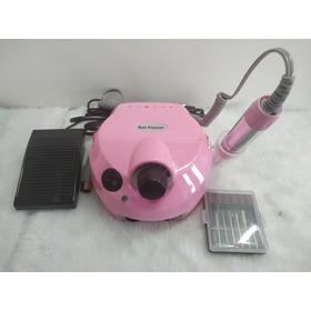 Lixa Eletrica Nail Dril Pioneer Rosa Bivolt  30.000 Rpm