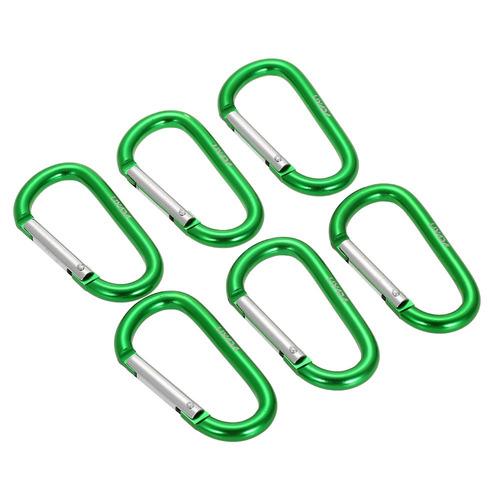 lixada paquete de 6 mosquetón aluminio presilla d anillo ve