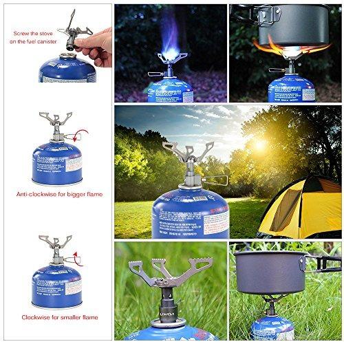 lixada pocket camping stove mini plegable de mochilas de ga
