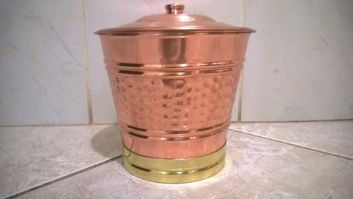 lixeira de cobre
