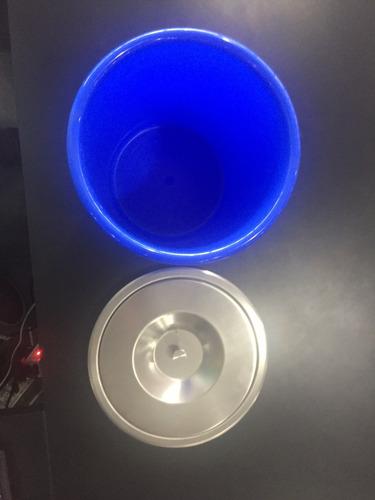 lixeira em aço escovado 5 litros