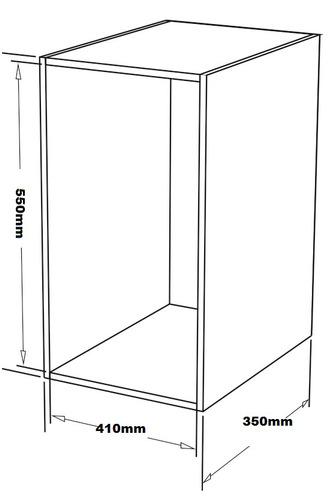 lixeira embutir armario dupla deslizante bredal 38 l c656