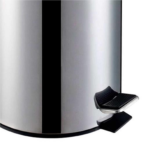 lixeira inox, 5l, balde interno removível travel max