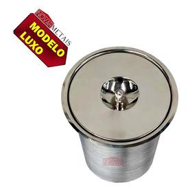 Lixeira Pia Cozinha Embutir Granito Inox Alumínio Luxo 3 Lts