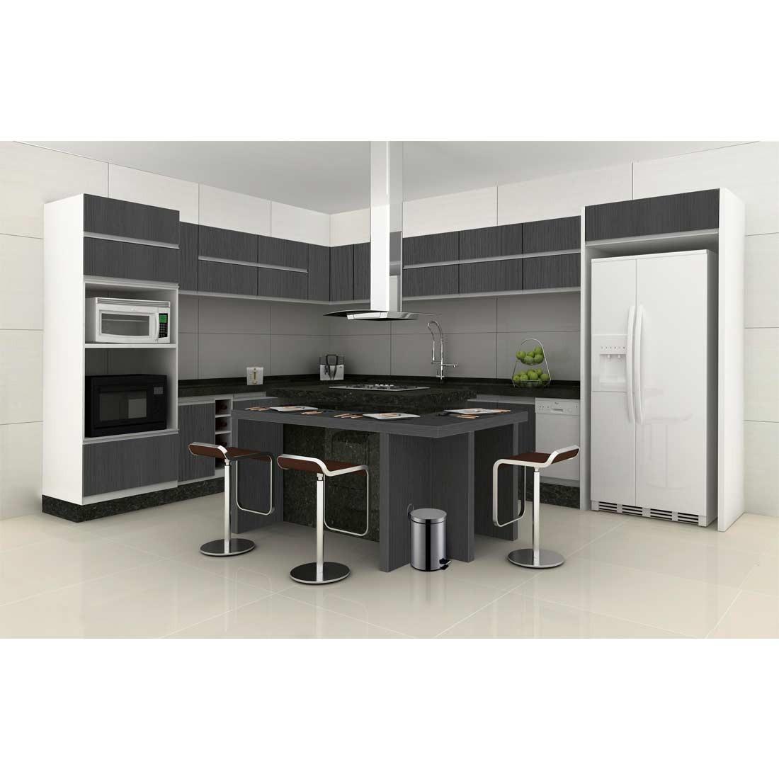 Kit Promocional 2 Lixeiras A O Inox 3l E 5l Com Pedal R 89 90  ~ Cozinha Planejada Preta E Inox