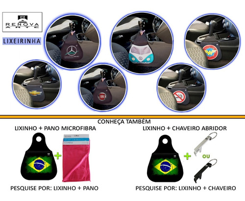 lixinho carro lixeira lixo acessorio time_vasco