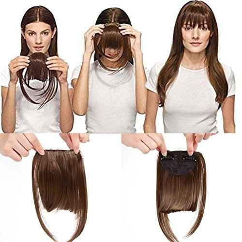 Extensiones de clip en pelo corto