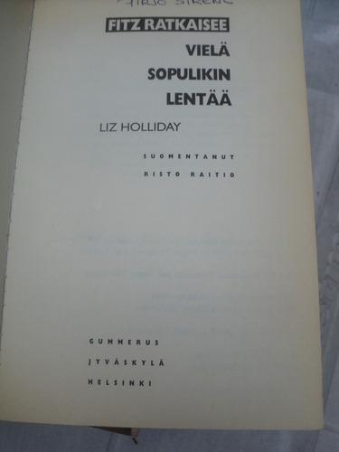 liz holliday, fitz ratkaisee (libro en finlandés)
