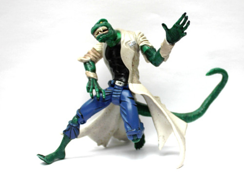 lizard action figure lagarto spiderman origins